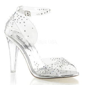 Shoes - High Heel Rhinestone Shoes Clear Lucite Bride